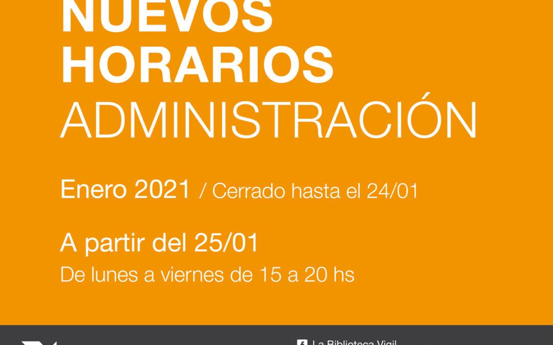 Horarios del área administrativa