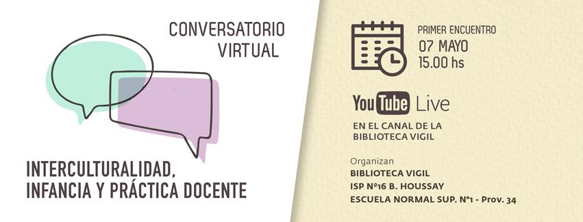 Nuevo ciclo de conversatorios en línea